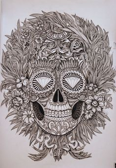 Mexican skull © Alex Konahin. If I didn't care how it looked when I was 50, I would get this as a tattoo