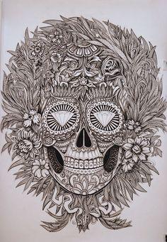 Mexican skull by Alex Konahin
