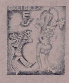 Ex Libris by M. Fingesten (1884-1943)