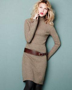 Garnet Hill is always so pretty. I love their style. Dress. Tights. Belt.