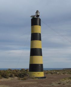 Punta Ninfas Lighthouse. This lighthouse replaced a 15 m (48 ft) octagonal skeletal tower. Located on the point marking the southern entrance to the Golfo Nuevo, at the end of provincial route 5 about 50 km (30 mi) east of Puerto Madryn, Argentina