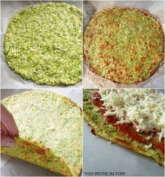 Penne im Topf: {Low Carb} Zucchini Crust Pizza