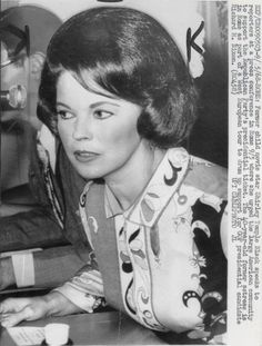 Shirley Temple Black in speaking to the American community in Rome in support of Presidential candidate Richard Nixon, 1968.