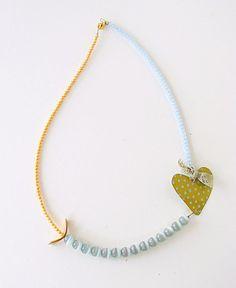 necklace - Xanthippe Tsalimi Handmade Bracelets, Handcrafted Jewelry, Beaded Bracelets, Bead Jewellery, Jewelry Necklaces, Women Jewelry, Fashion Jewelry, Diy Crafts Jewelry, Funky Jewelry