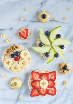 We don't know if you can handle the cuteness of these Healthy Peanut Butter Yogurt Fruit Pizzas. Get your kids in on the cooking fun by creating unique topping with their favorite fresh fruits—like strawberries, apples, and bananas!