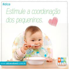 Estimule a coordenação dos pequeninos, veja dicas em https://www.ddxmodamix.com.br/novidades/detalhes/quando-seu-filho-vai-comer-com-talheres