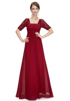 Sexy Floor Length Lace Red Backless Prom/Evening Dress