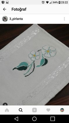 Diy And Crafts, Embroidery, Canvas, Cross Stitch Baby, Hand Towels, Cross Stitch Alphabet, Floral, Names, Up Dos