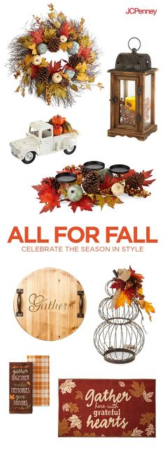 Tap to Shop!// Looking for Thanksgiving dècor to be thankful for? Think of autumn's color palette to get all your rooms ready for Thanksgiving entertaining ahead. Bring Fall warmth to life throughout your home with rustic decorations—from leafy centerpiec Thanksgiving Decorations, Seasonal Decor, Halloween Decorations, Fall Decor, Fall Crafts, Decor Crafts, Holiday Crafts, Fall Projects, Thanksgiving Projects