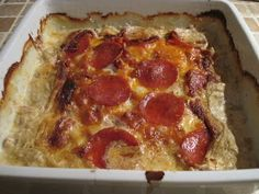 Olgas: Koteletter i fad med pepperoni