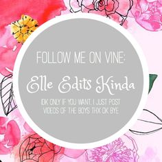 I just started making edits so it's a work in progress. Comment on one of my vines if you follow because of Pinterest (: Thank you if you follow in advance! -Elle