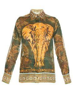 Elephant-print cotton-muslin shirt | Valentino | MATCHESFASHION.COM US