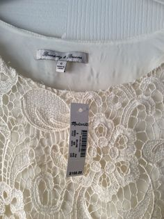Madewell Ivory Lace Dress Size 0 Brand New with Tags   eBay