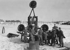 Acoustic Radar.A Swedish 4-horn locator in 1940 No further info currently available.