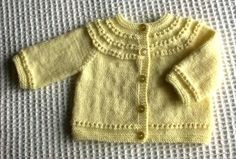 Eyelet Yoke Baby Cardigan Sweater - free