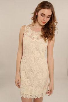 Sleeveless Lace Dress.