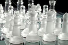 chess pieces. - Close-up of chess piece on chess board.