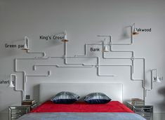 Bedroom idea (see more) Loft Style Apartments, New York Loft, Pipe Lamp, Westminster Abbey, Bunk Beds, Architecture Design, Kids Room, Cool Stuff, Interior