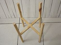 DIY: Suporte de planta de madeira - Ideias em Casa