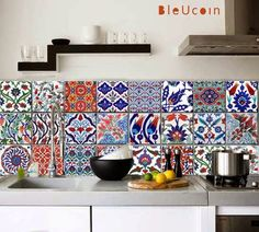 Gypsy Yaya: Turkish Tile Decals- that kitchen update possibility just got so much better!