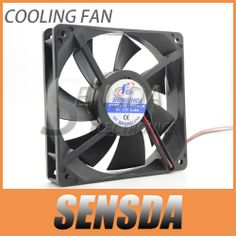Free Shipping Radiator fan 12cm cooling fan 12025 120mm 12v fan 0.40A Dual ball bearing  2pin fan $12.99