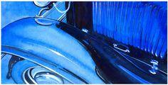 Full fendered 32 Ford in blue by Bernie Ramirez