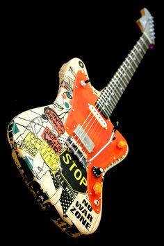 Strum Away With These Simple Guitar Tips – Learning Guitar Rare Guitars, Used Guitars, Unique Guitars, Fender Guitars, Guitar Painting, Guitar Art, Music Guitar, Cool Guitar, Custom Bass Guitar