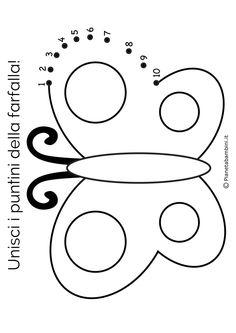 "15 Disegni ""Unisci i Puntini"" da 1 a 10 per Bambini Piccoli | PianetaBambini.it Free Preschool, Preschool Activities, Pre Writing, New Years Eve Party, Teacher Gifts, Coding, Symbols, Letters, Work Sheet"