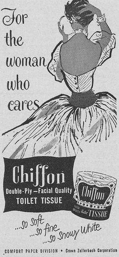 Chiffon Toilet Tissue Ad 1952