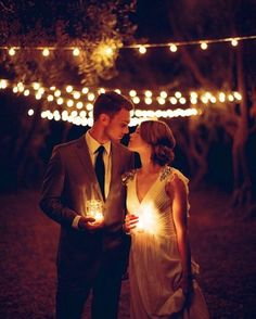 Romantic Candlelight Wedding Portraits / www. Night Wedding Photos, Night Time Wedding, Wedding Pics, Wedding Couples, Wedding Bells, Wedding Dresses, Wedding Images, Bridesmaid Dresses, Firefly Wedding