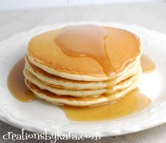 Recipe for restaurant style pancakes with a secret ingredient.