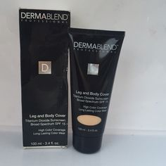 Dermablend Professionals Leg & Body Cover Natural A medium coverage liquid foundation. Whether it's a bride's scar, a model's spider veins or even a priest's tattoo, Leg and Body Cover provides comfortable, flawless and medium camouflage in a natural finish. Product is brand new, never used. Retails for $31. Bundle for an additional 20% savings! Dermablend Professionals Makeup Foundation