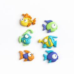Lot boutons - poissons rigolos