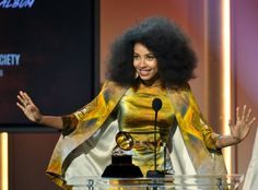 "Esperanza Spalding Wins Two Grammys!!... This pic: Esperanza Spalding accepts the Grammy for Best Jazz Vocal Album for ""Radio Music Society"" at the 55th annual Grammy Awards in Los Angeles. #Congrats...AGAIN!"