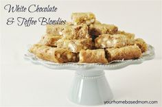 WHITE CHOCOLATE & TOFFEE BLONDIES...THESE ARE SO AMAZING