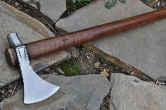 HAND FORGED OSAGE POLL TOMAHAWK  BY MARK MCCOUN