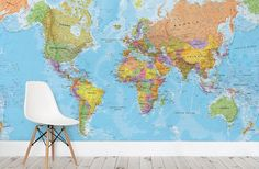 24x36 world classic elite wall map mural poster laminated https political world map wallpaper wall mural gumiabroncs Images