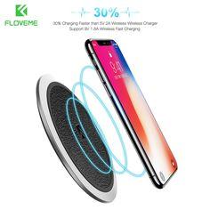 15561 - Chargeur pour iPhone & Samsung en cuir d'origine Qi sans fil FLOVEME