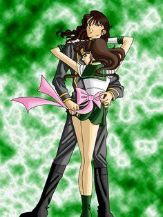 Sailor Jupiter and Nephrite