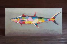 colorful big tuna oil painting  $259.00
