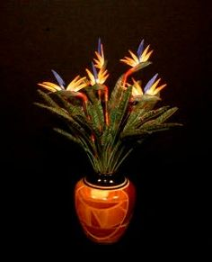 """Bird of Paradise by """"Pearce Miniatures""""."""