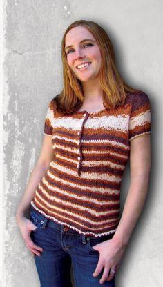 Free Universal Yarn Pattern : Adrienne Henley Top
