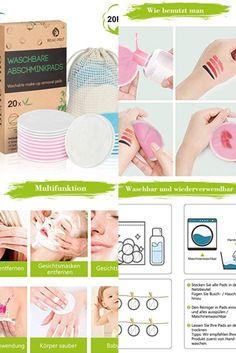 【Natürliche Bambusfaser-Super Sanft】Unsere Waschbare Abschminkpads aus Bambusfaser und Baumwolle ist ein Premium Waschlappen,sind angenehm auf deine Haut. Es befreit die Haut schonend von Verunreinigungen, Fett und Hautschuppen. Die optimale Vorbeugung gegen Pickel und Mitesser, optimal für die tägliche Gesichtsreinigung! Fett, Super, Make Up, Losing Hair, Pimple, Sachets, Tips, Makeup