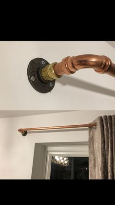 Copper Pipe Curtain Rail Colonial Brick Pinterest