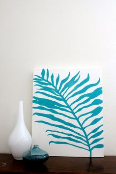 Palm Tree original painting by Hello Hue Studio