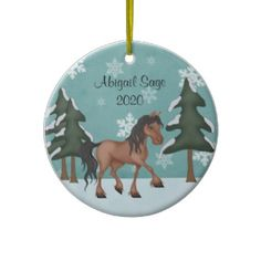 Woodland Santa Horse Ornament from the Horse of a Different Color