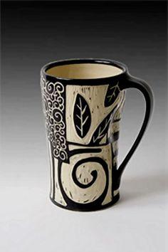 Jennifer Falter Sgraffito mug