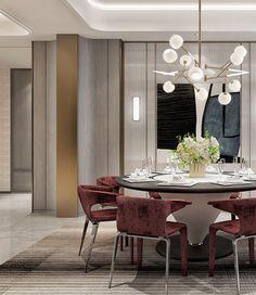 Ways Make Modern Dinning Room Interior Styles - Ideaz Home Luxury Dining Room, Dining Room Lighting, Dining Room Design, Dining Room Chairs, Dining Room Furniture, Dinning Table, Dining Set, Luxury Interior, Room Interior