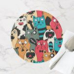 Shop The crowd of cats cake stand created by panova. Let Them Eat Cake, White Ceramics, High Gloss, Art For Kids, Cat Lovers, Crowd, Create Yourself, Art Pieces, Kids Rugs