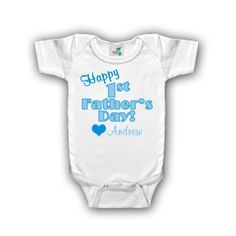 Personalized Happy First Father's Day by siblingspecialtees, $17.00